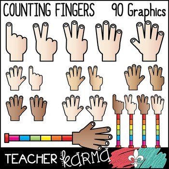Counting Fingers / Hands Clipart.