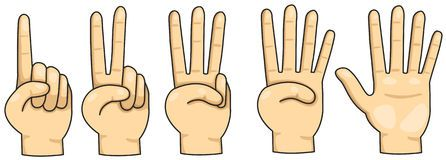Fingers Counting Clipart.