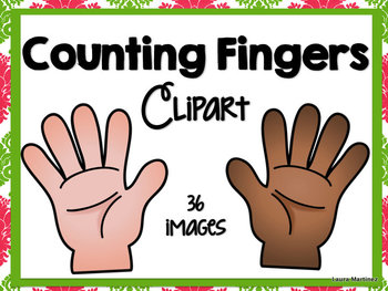 Counting Fingers Clipart by Teacher Laura.