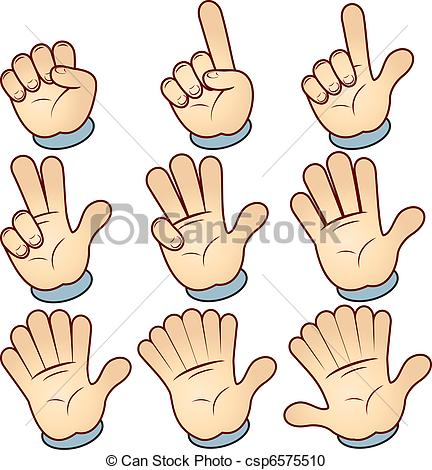 Vector Clipart of Counting Hand.