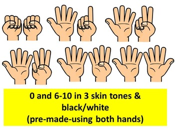COUNTING FINGERS CLIP ART.