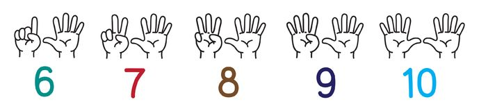 Counting Hands Stock Illustrations.