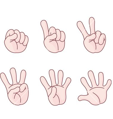 clipart hands counting.