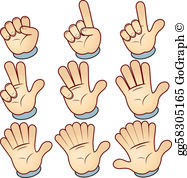 Finger Counting Clip Art.