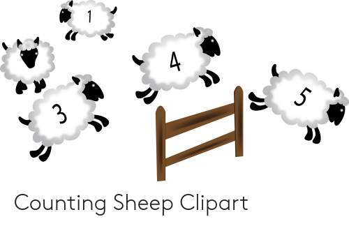 1 4 3 Counting Sheep Clipart.