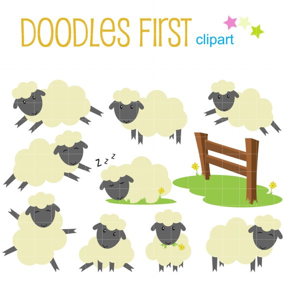 Counting sheep clipart 5 » Clipart Station.