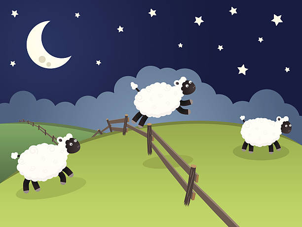 Best Counting Sheep Illustrations, Royalty.
