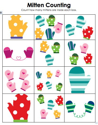 Free!! Mitten countingcould use as a cute match game! Part of.