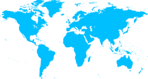 Blue Map Of Countries Clip Art at Clker.com.