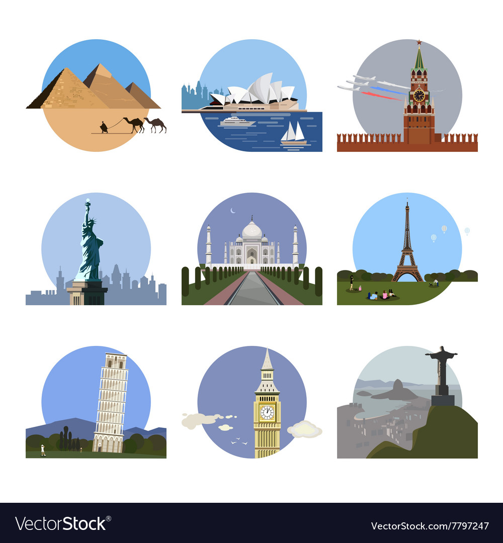 Countries of the world logo design template.