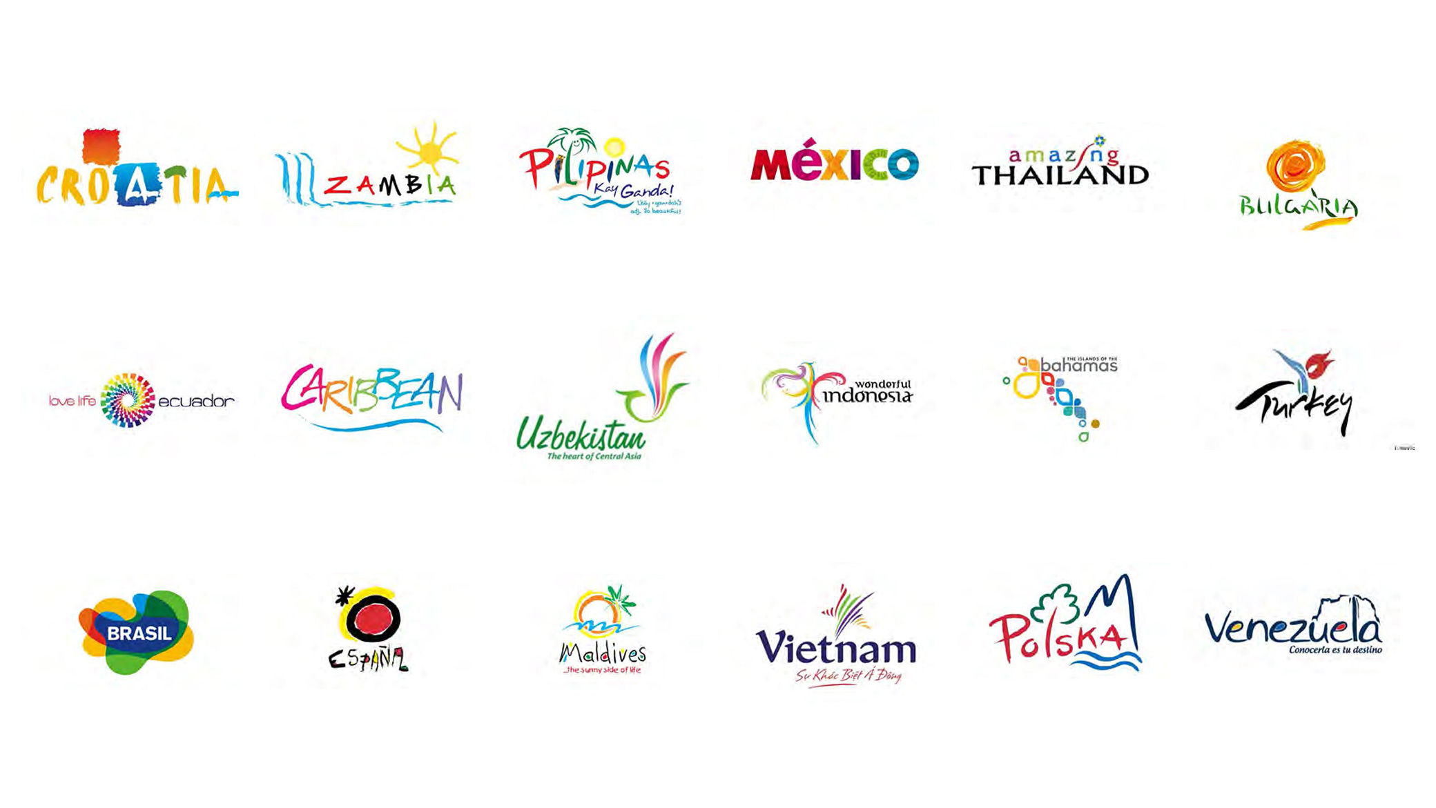 Countries need better logos and branding than these.