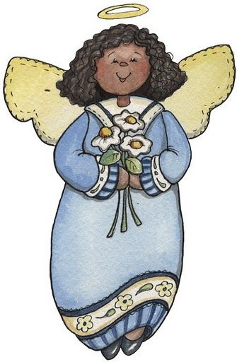 COUNTRY ANGEL CLIP ART.