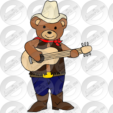 Country Bear Picture for Classroom / Therapy Use.