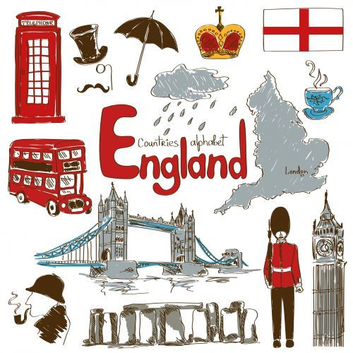 England Culture Map Printable.