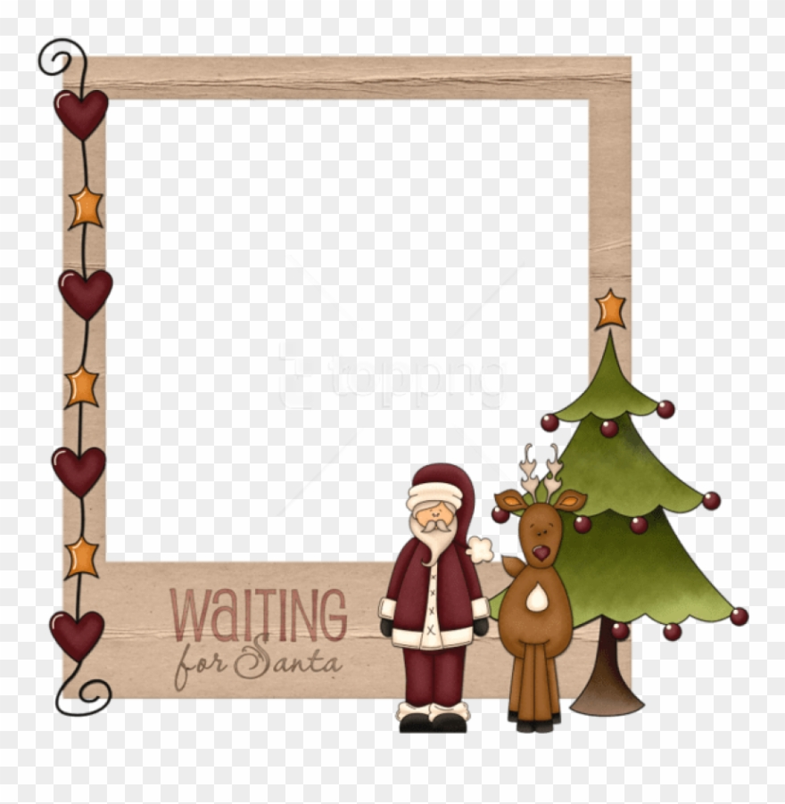 Free Png Christmas Waiting For Santaframe Background.