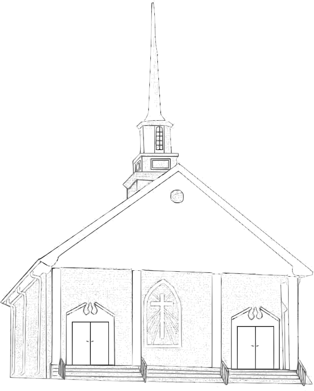 Free Clipart: Country Church.