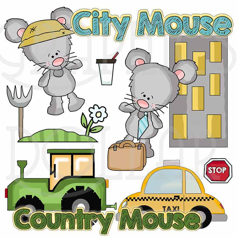 Country Mouse City Mouse Clip Art.