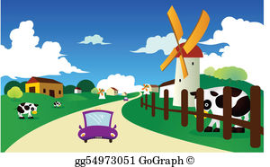 Country Road Clip Art.