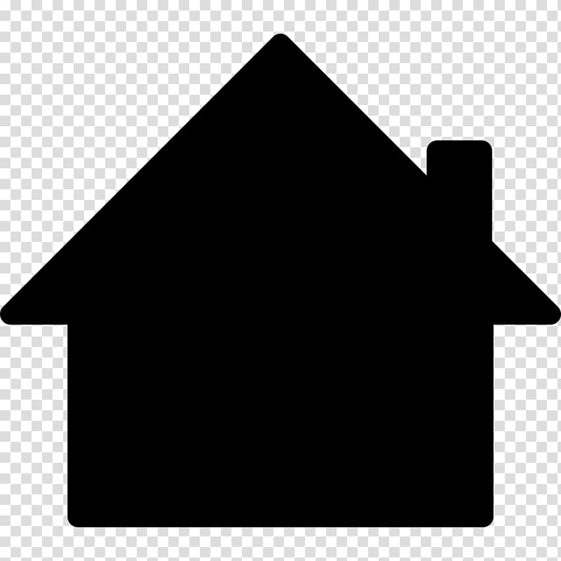 House icon illustration, English country house Silhouette.