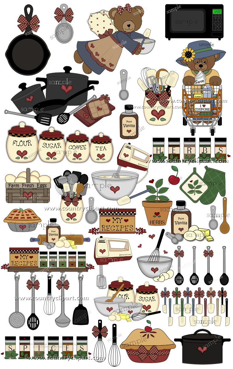 Clipart for Digital Printables and Crafts The Country Club.