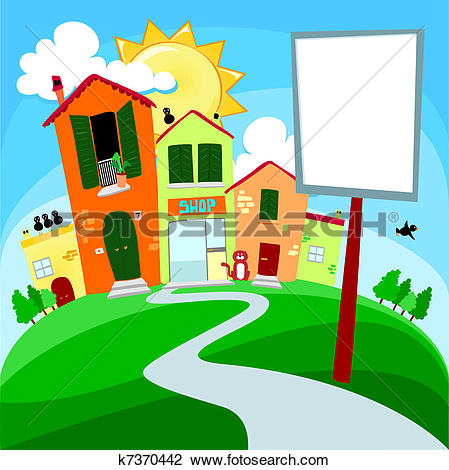 Clipart of Country road k7370442.