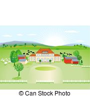 Country home Clipart Vector and Illustration. 5,372 Country home.