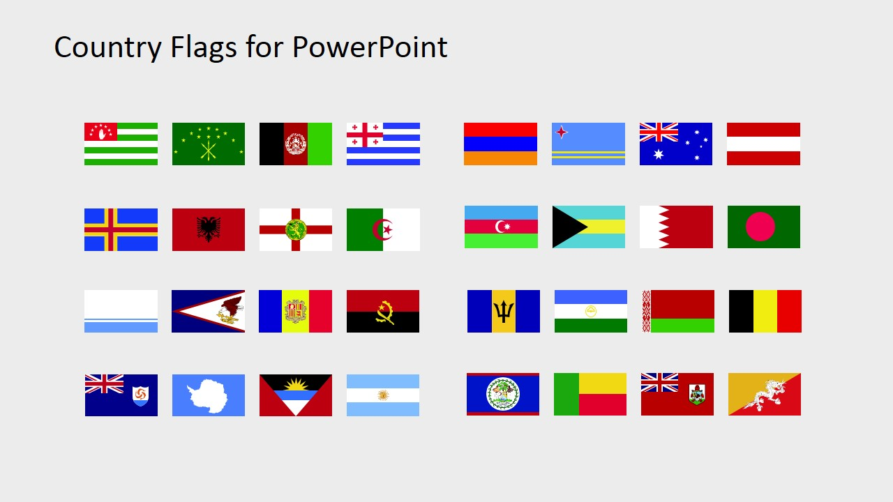 Country Flags Clipart for PowerPoint (A to B).