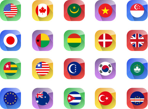 Country flags vector free vector download (2,965 Free vector.