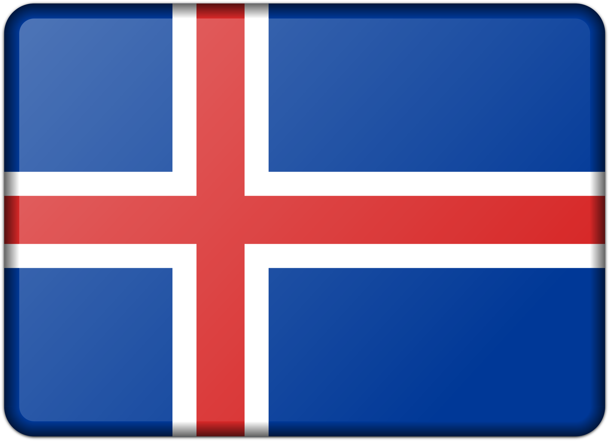 This Free Icons Png Design Of Flag Of Iceland.