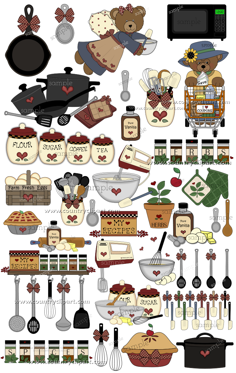 Country Food Clipart.