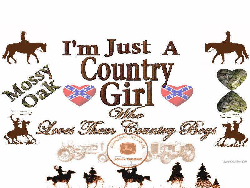 Country Girl Clip Art.