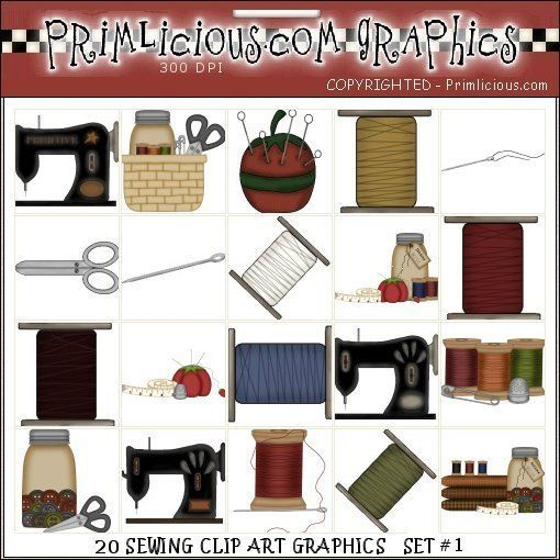 Sewing Country Clip Art Primilicious Graphics.