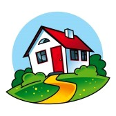house clip art : Country House.