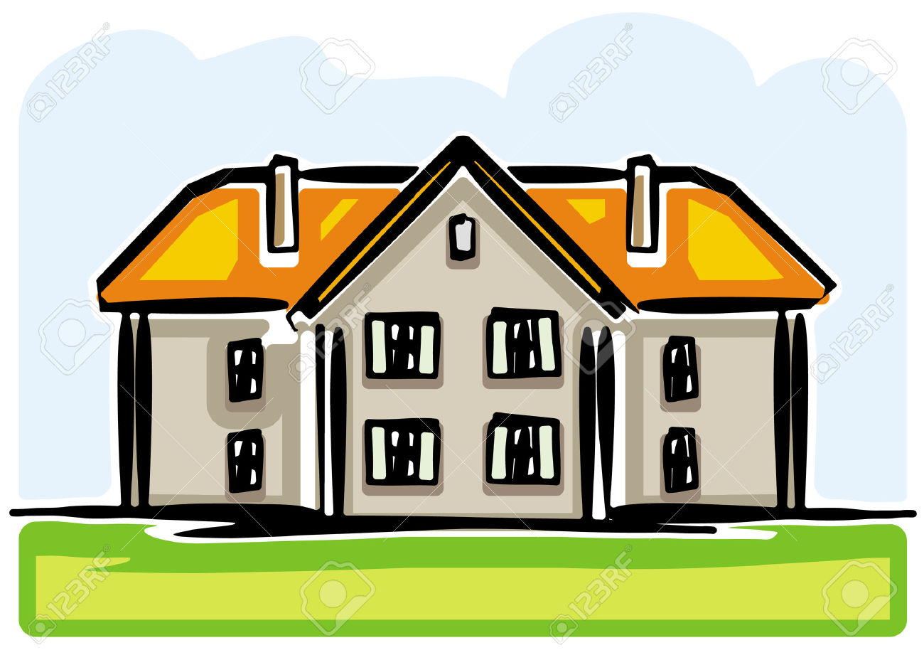 Country House Royalty Free Cliparts, Vectors, And Stock.