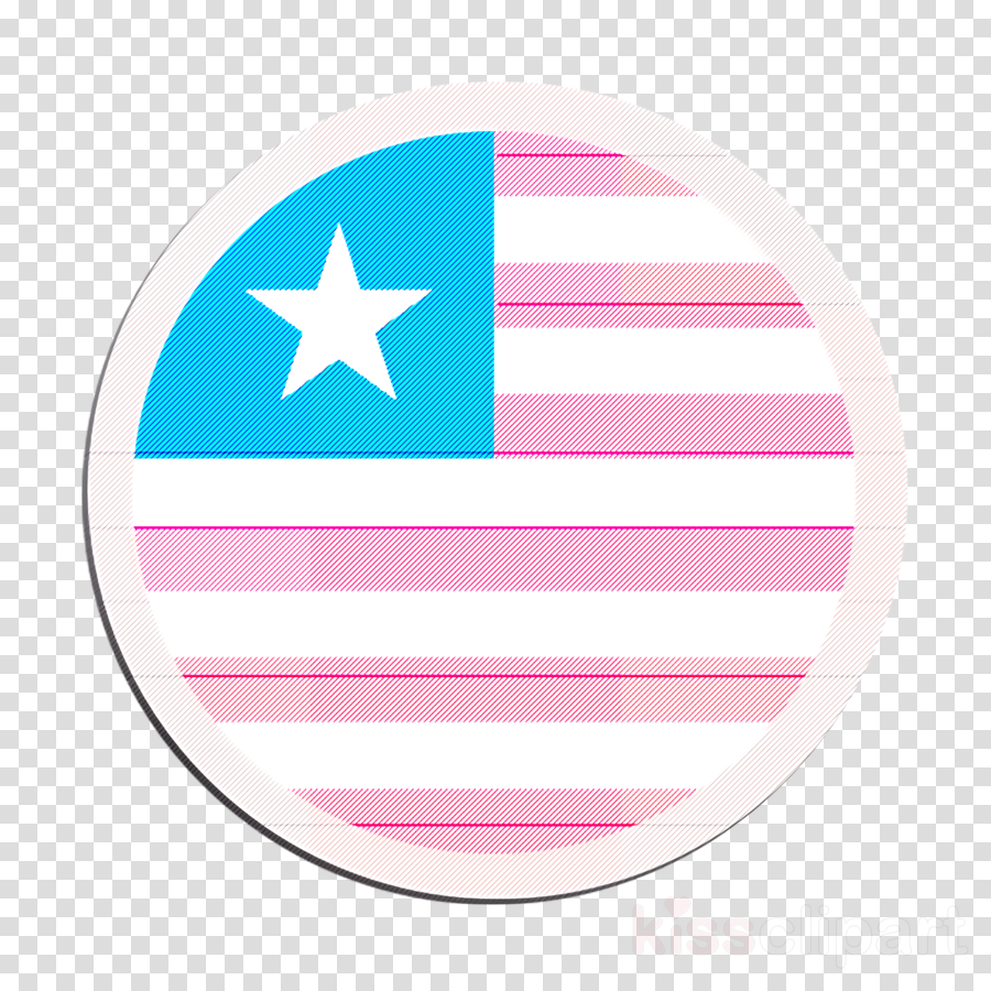country icon flag icon liberia icon clipart.