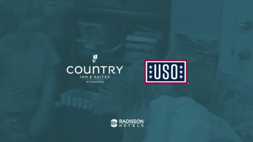Country Inn & Suites by Radisson Partners with USO to.