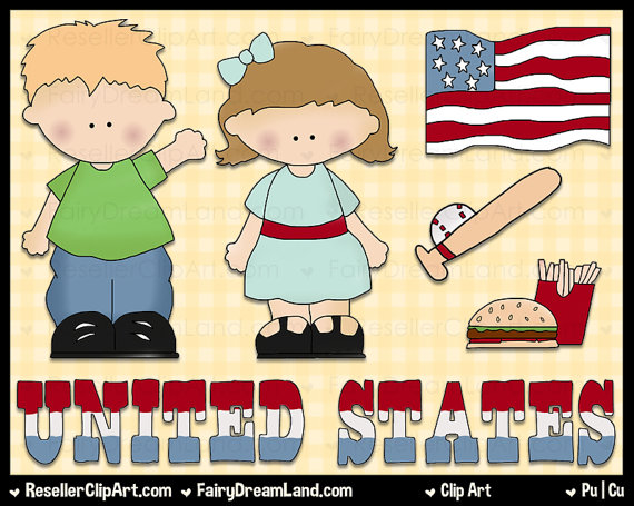 Country kids clipart.
