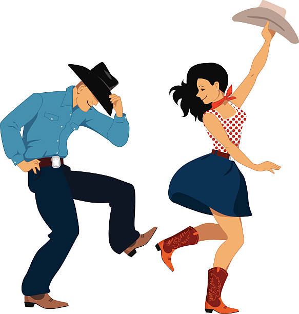 Line Dance Illustrations, Royalty.