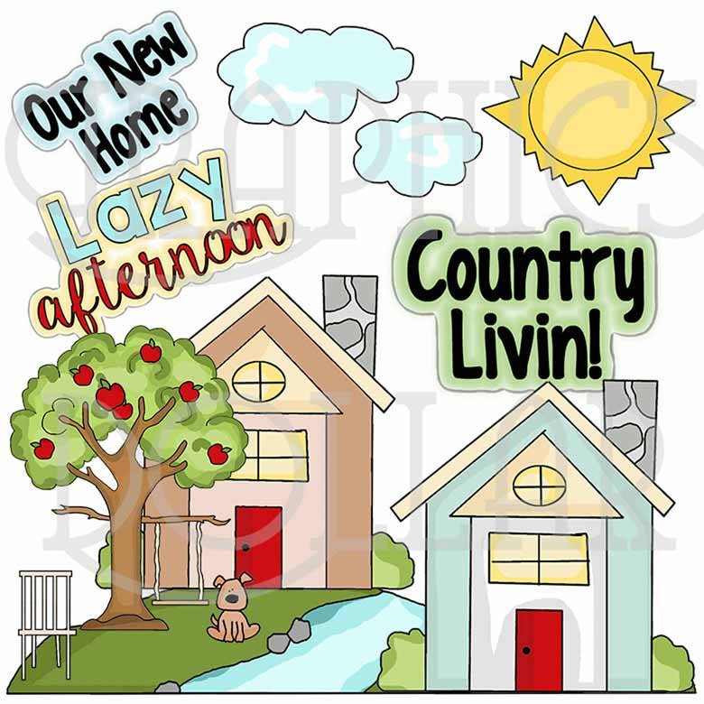 Country Living Clip Art.
