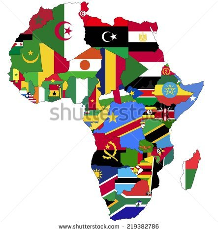 Africa Continent Stock Images, Royalty.
