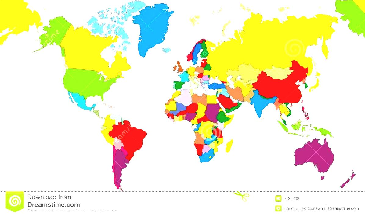World Maps With Countries Map Country Name Royalty Free Stock.