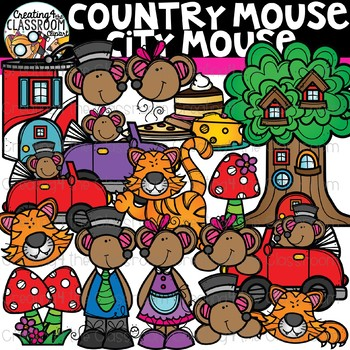 Country Mouse City Mouse Clipart {Reading Clipart}.