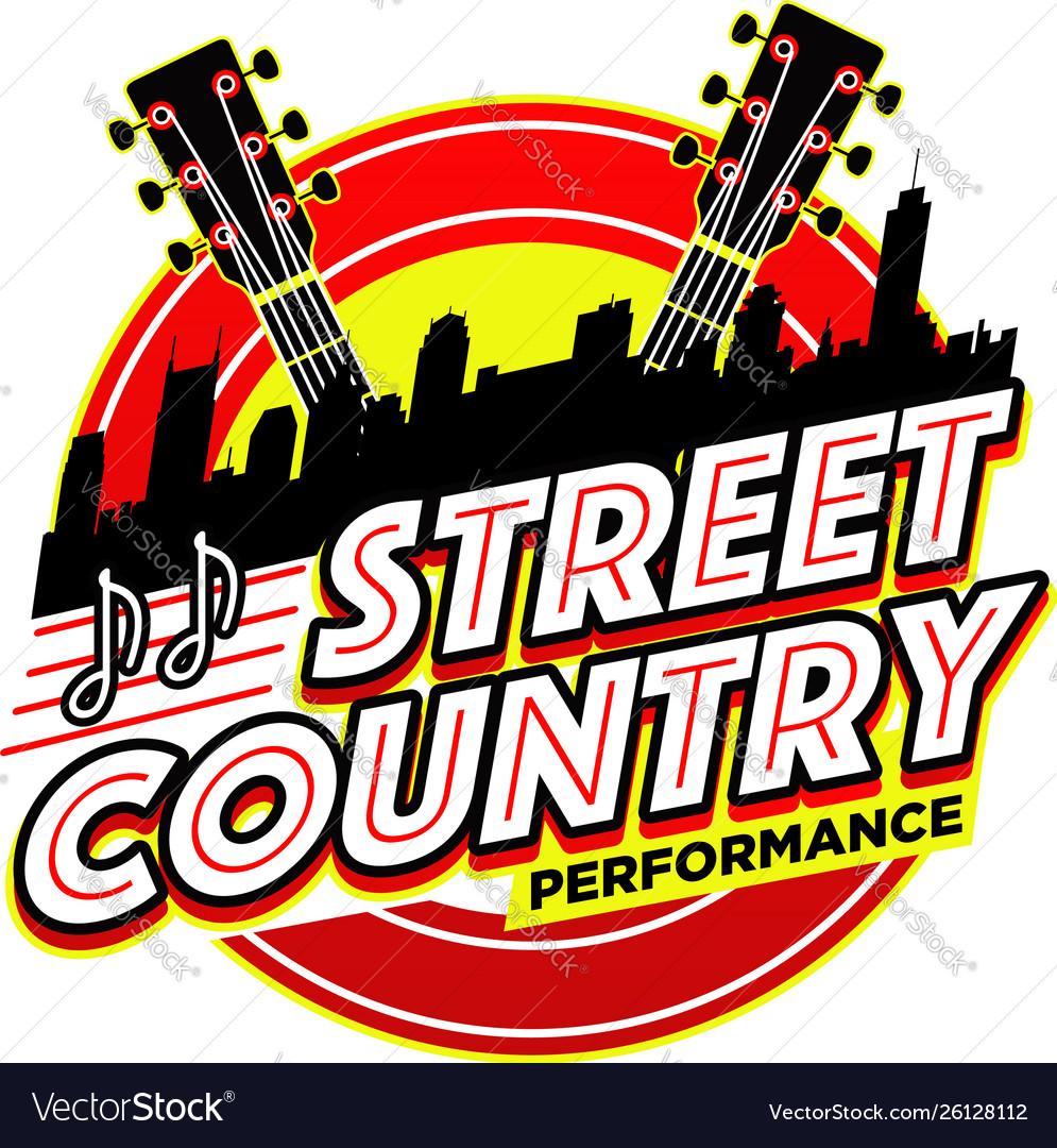 Street country music performance logo symbol badge.