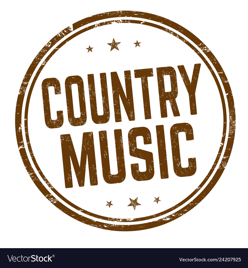 Country music sign or stamp.