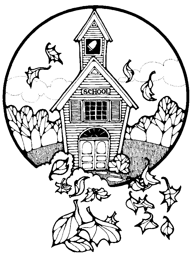 Country school clipart.