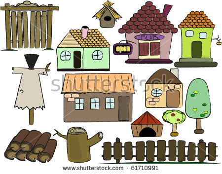 Cartoon Huts Stock Photos, Images, & Pictures.