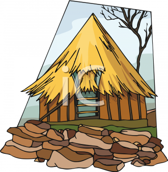 Indian Hut Clip Art, Royalty Free Hut Clipart.
