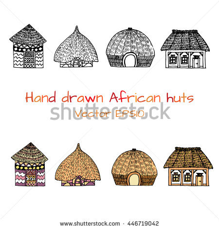 Huts Stock Photos, Royalty.