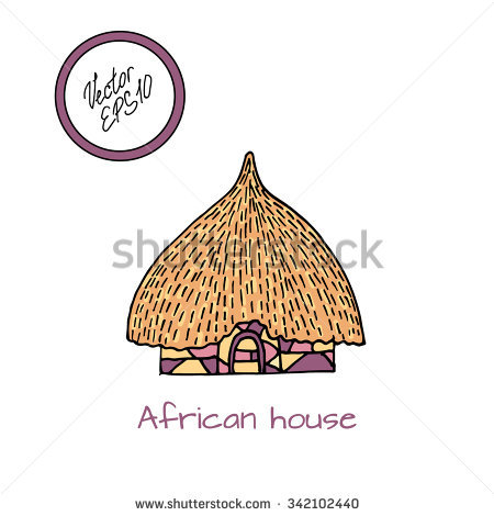 African Hut Isolated Stock Photos, Royalty.