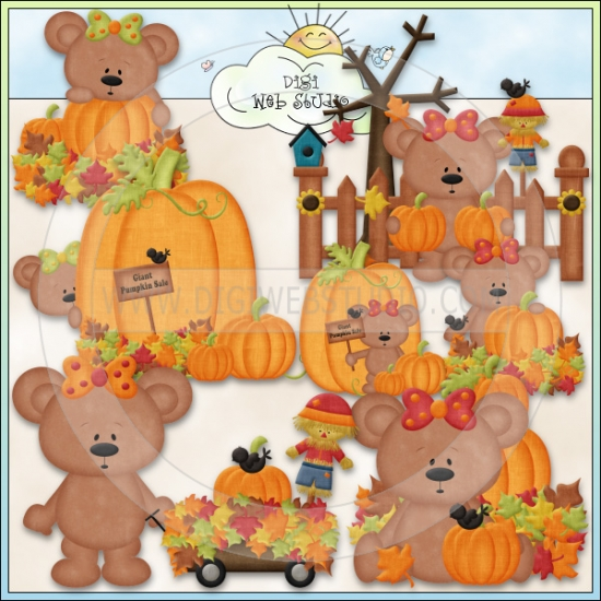 Pumpkin Patch Girl Bears 1.